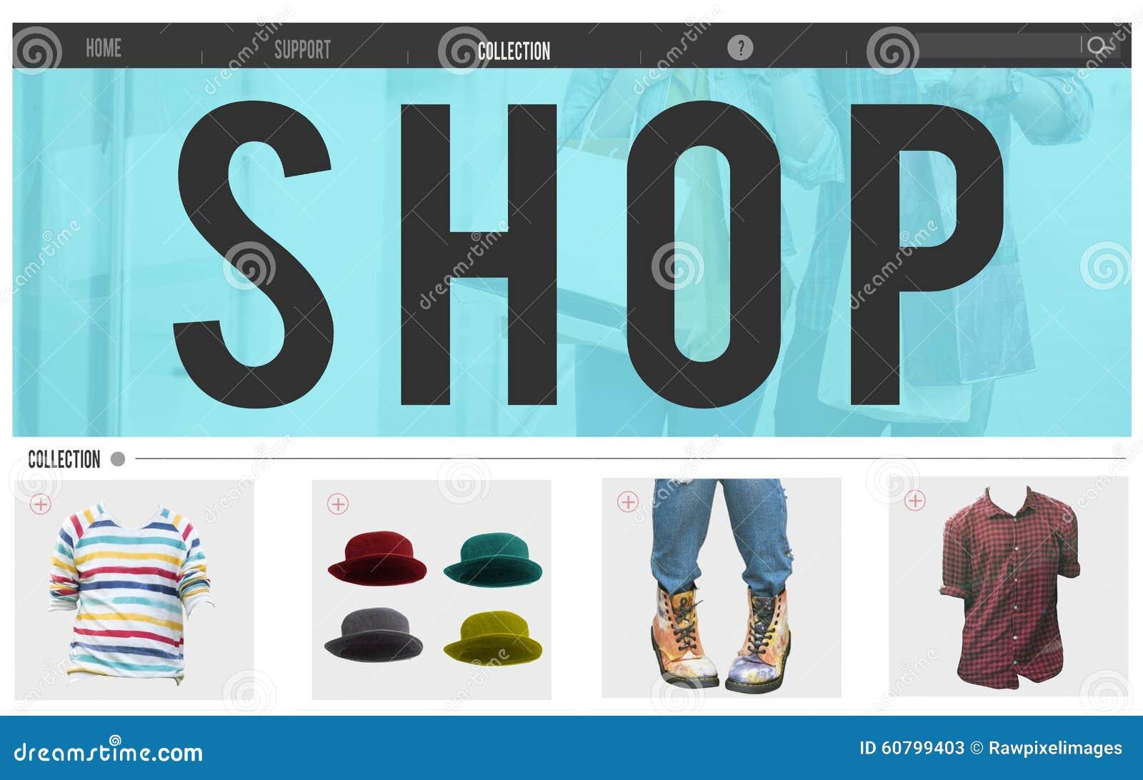 Shoppa begreppet för detaljhandel för advertizingköpandeprodukten