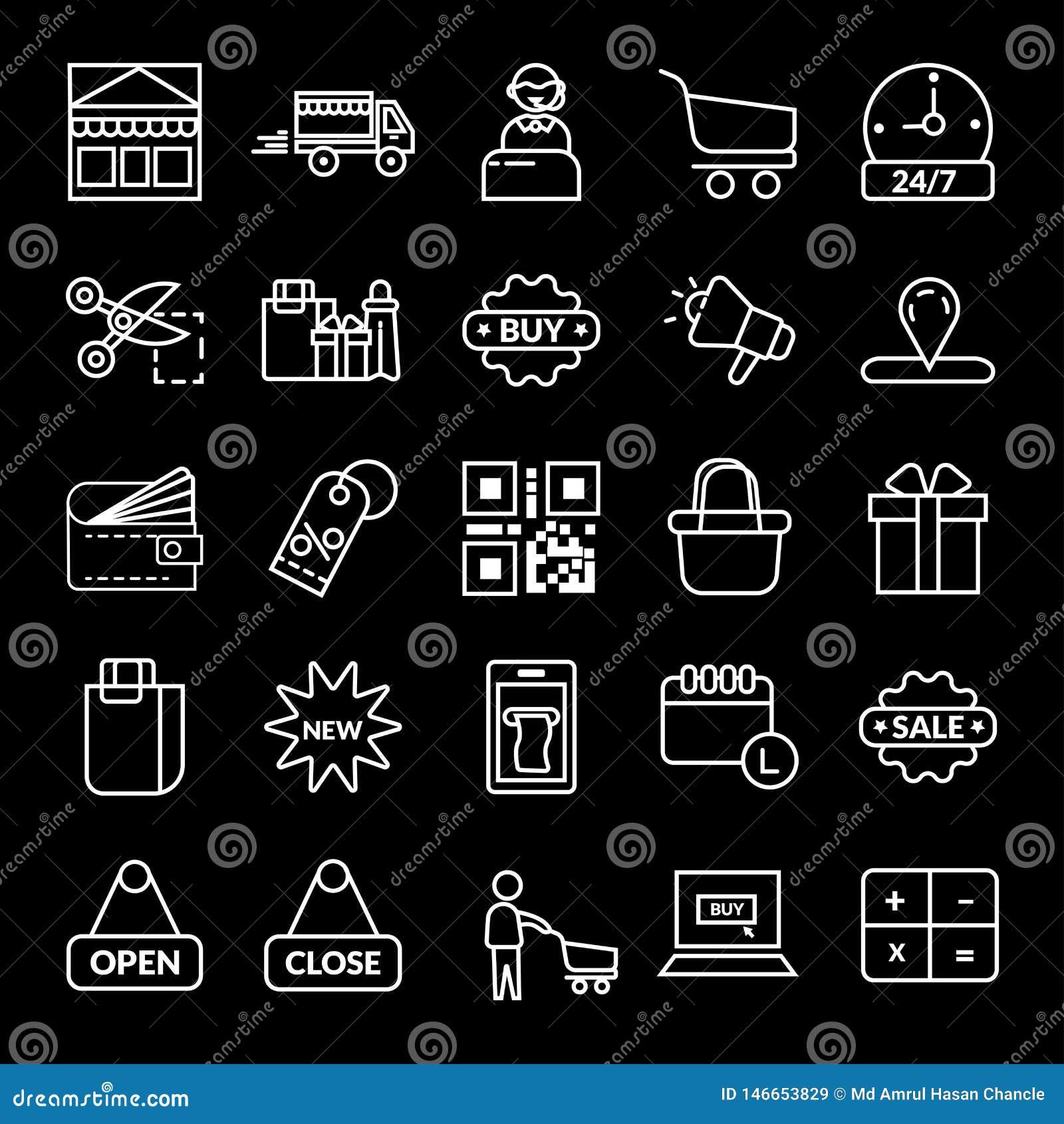 Shoppa E-kommers vektorsymbol
