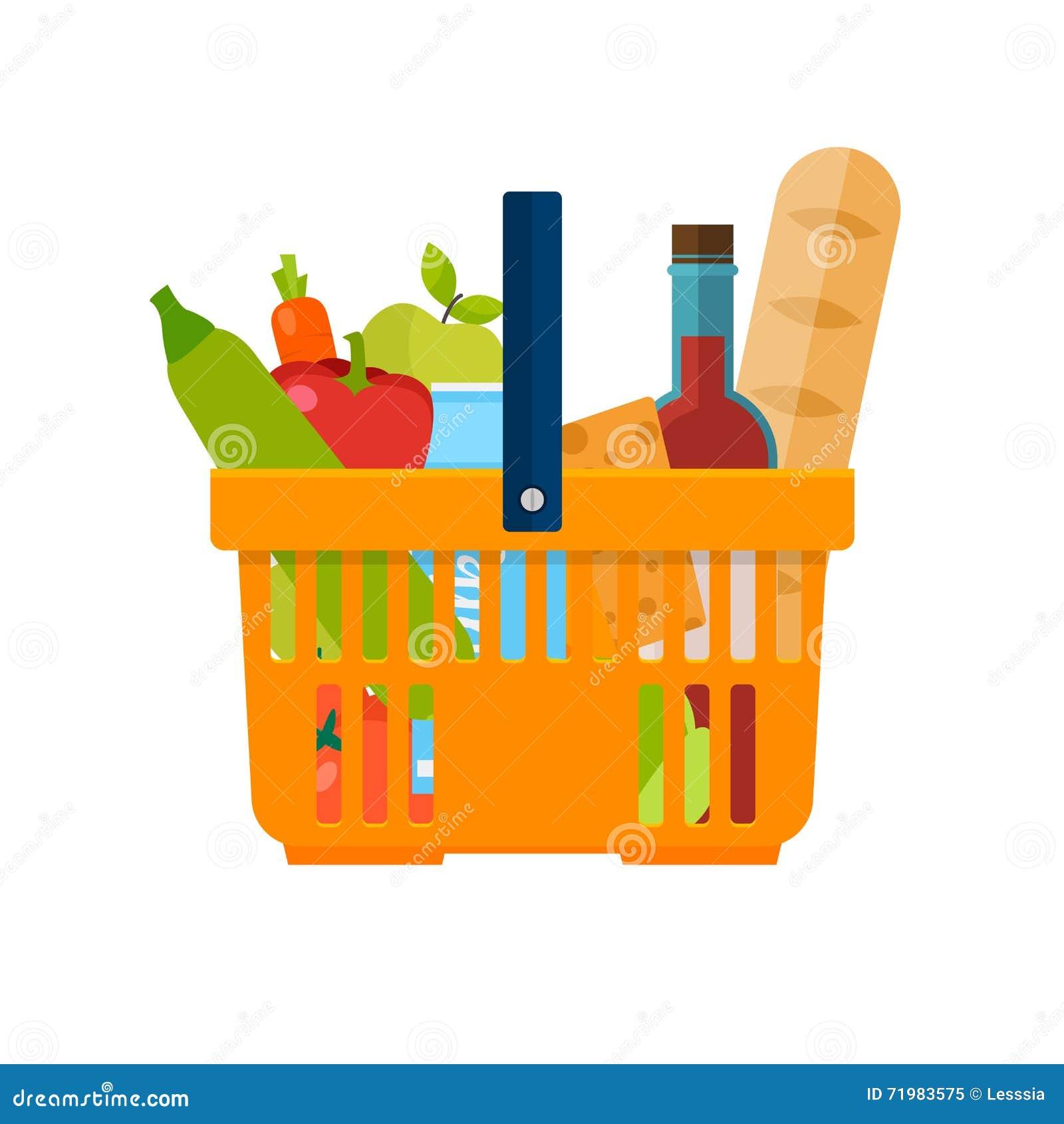Shoppa för korgmatar Sund organisk ny och naturlig fo