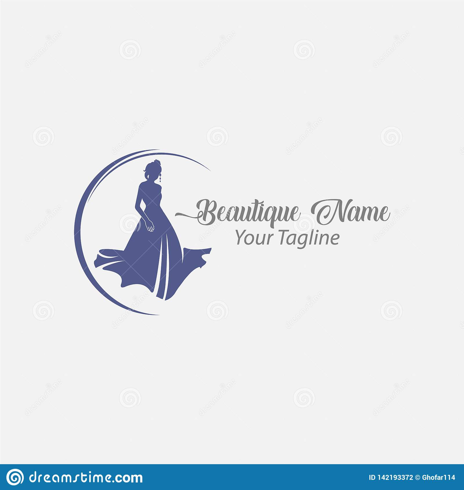 Shoppa logomodekvinnan, marinblå konturdiva
