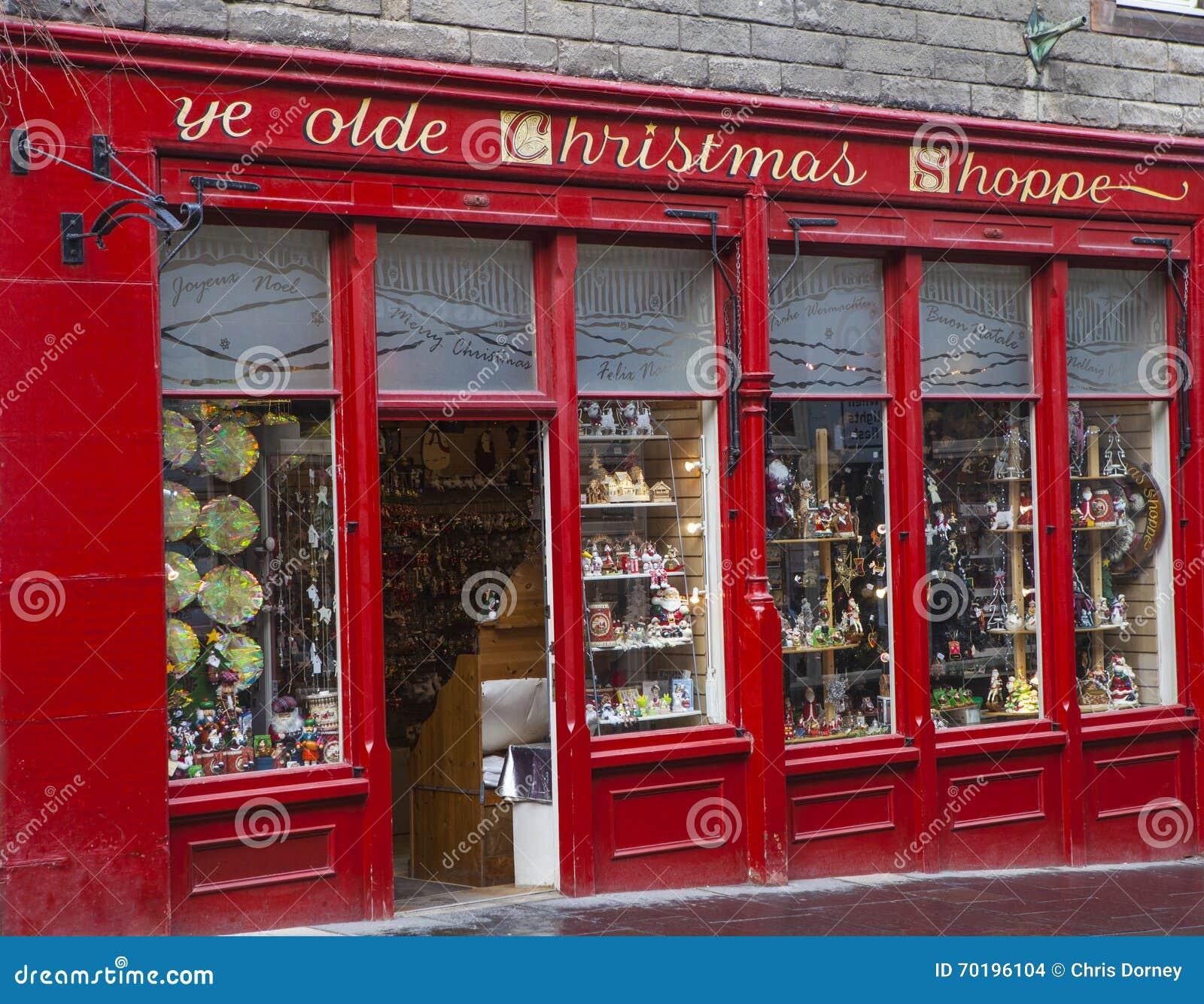 Shoppe Weihnachten YE Olde In Edinburgh Redaktionelles Stockbild ...