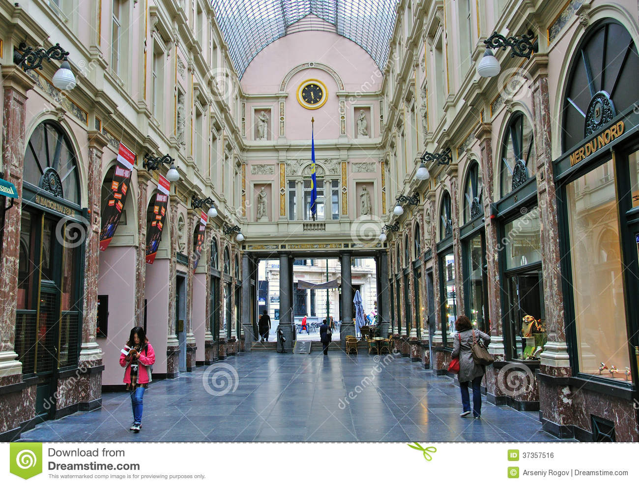 Shopping Arcade In Brussels Editorial Photo Image 37357516
