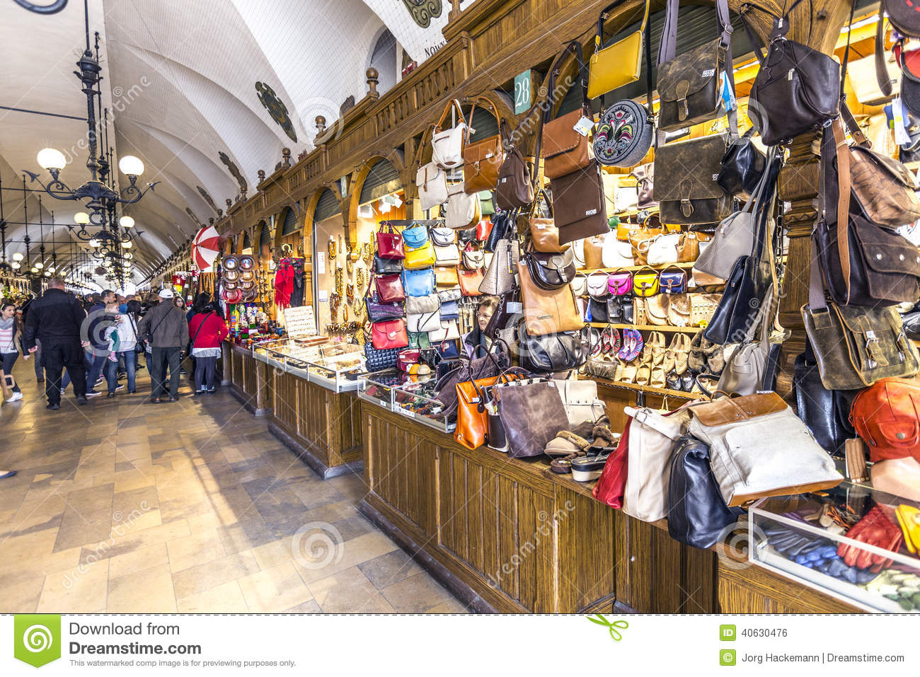 Shopping Arcade In The Sukiennice Cloth Hall In Krakow Editorial Photo Image 40630476