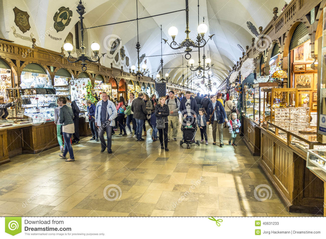 Shopping Arcade In The Sukiennice Cloth Hall In Krakow Editorial Stock Photo Image 40631233