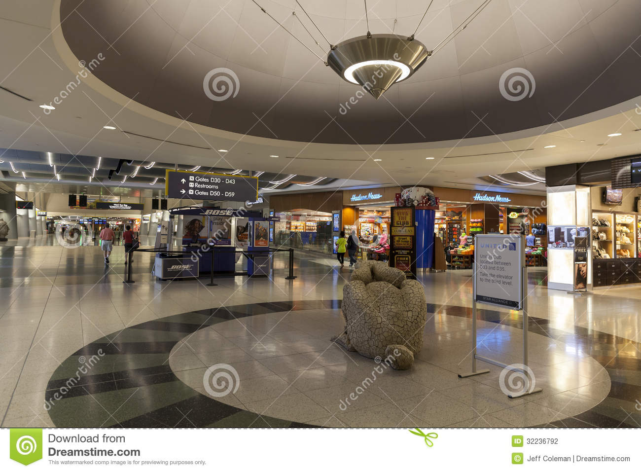 A Shopping Area Of The D Gates At Mccarran Airport In Las