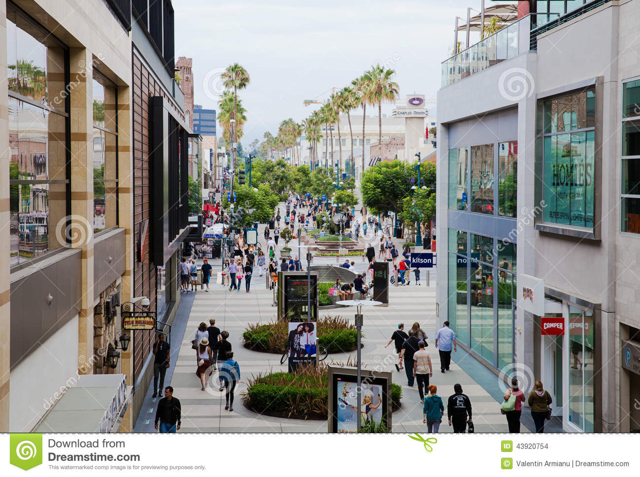 Shopping area santa monica california editorial stock Shopping for home