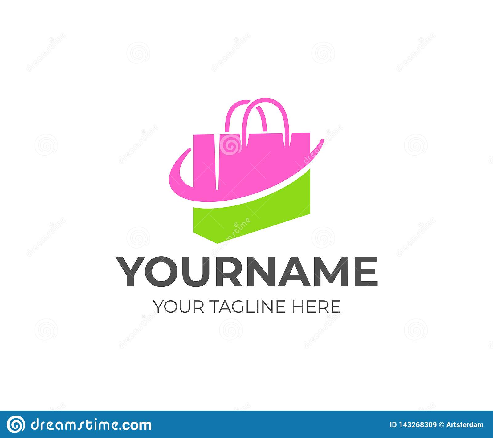 Shopping Bag Or Handbag Package And Online Shop Logo Design Pack Store Or Shop Retail Shopping Center And Fashion Vector De Stock Vector Illustration Of Application Online 143268309