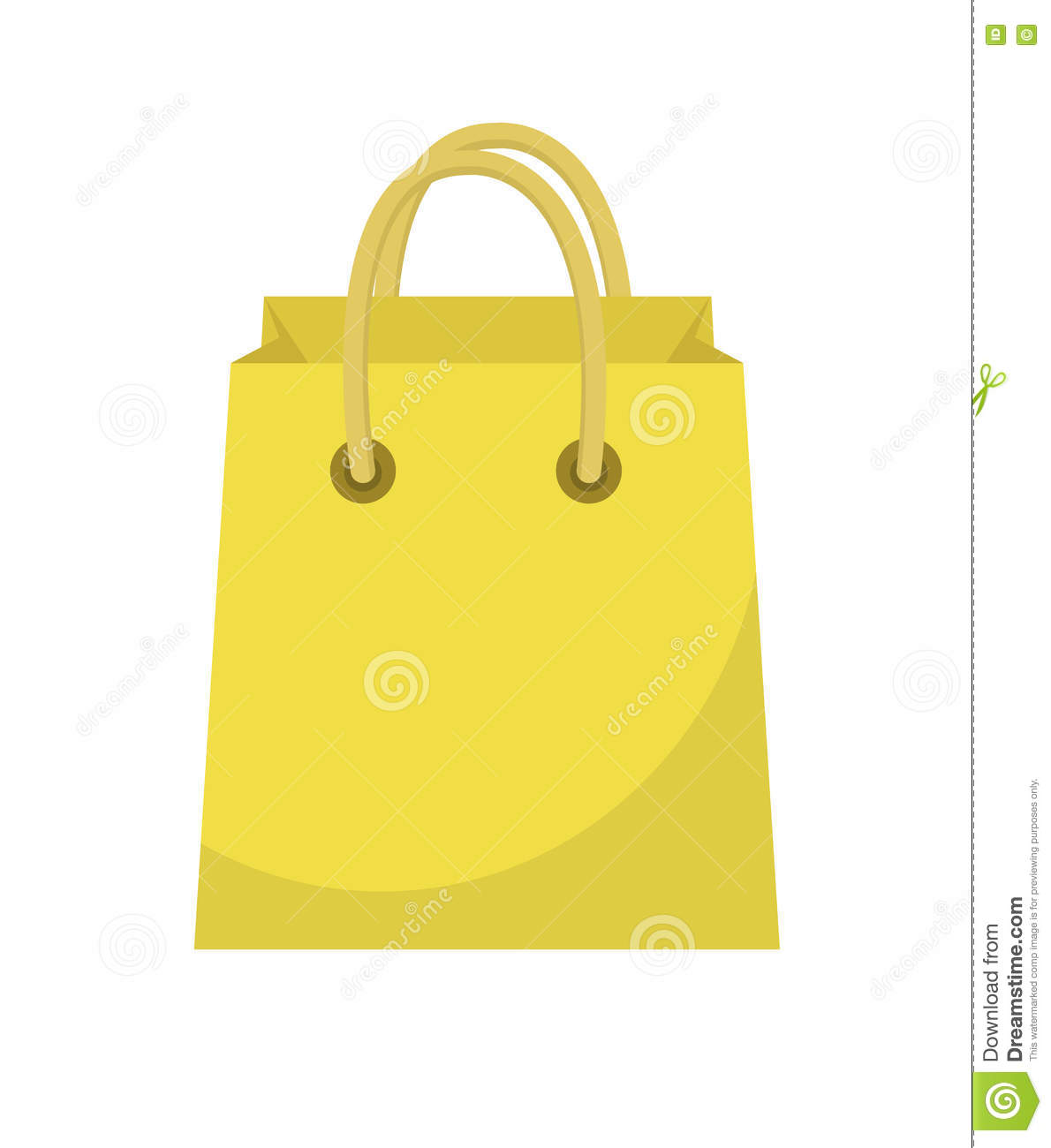 Shopping Bag Icon Flat Style Paper Bags On A White Background Gift