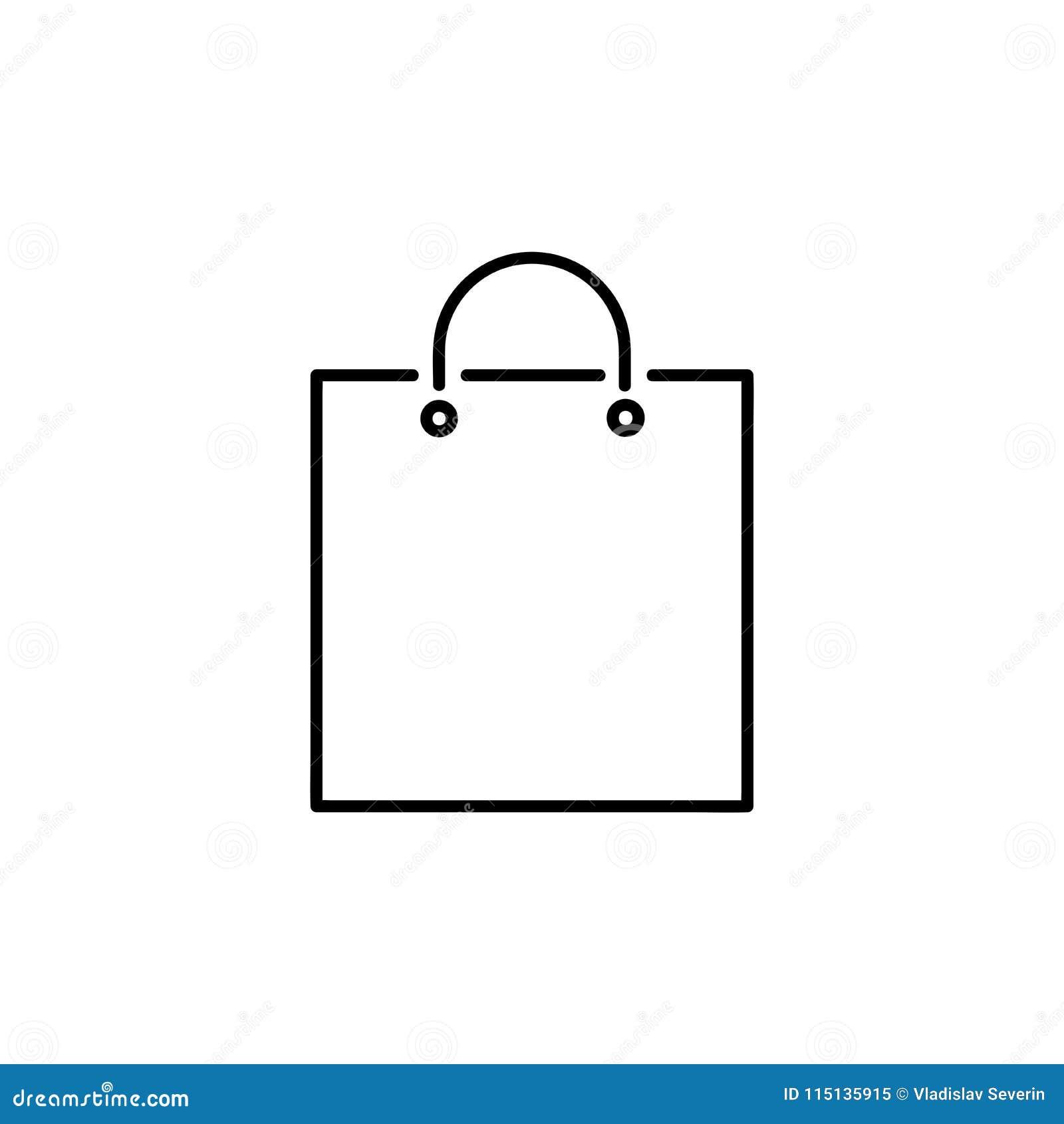 Shopping Bag Icon Stock Illustration Illustration Of Female 115135915