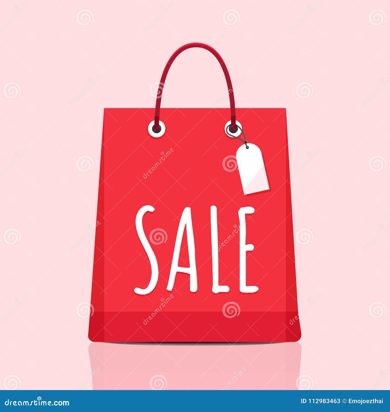 Shopping bag and item fashion gadget clothier. Illustrator vector set.