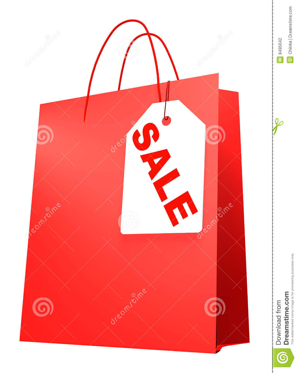 Shopping Bag With Label SALE Stock Photography - Image: 8495042