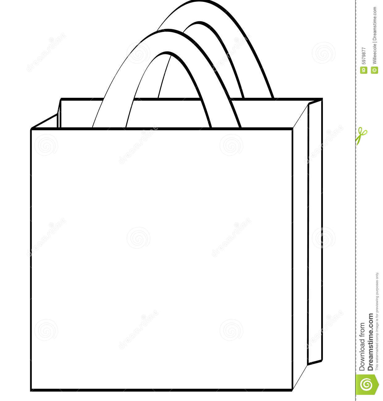 Shopping Bag Outline Royalty Free Stock Photography - Image: 5979877