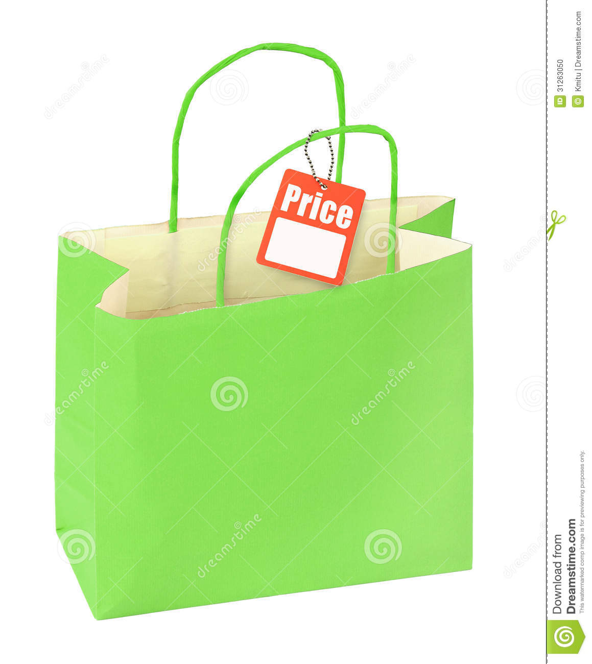 Shopping Bag And Price Tag Stock Photo - Image: 31263050