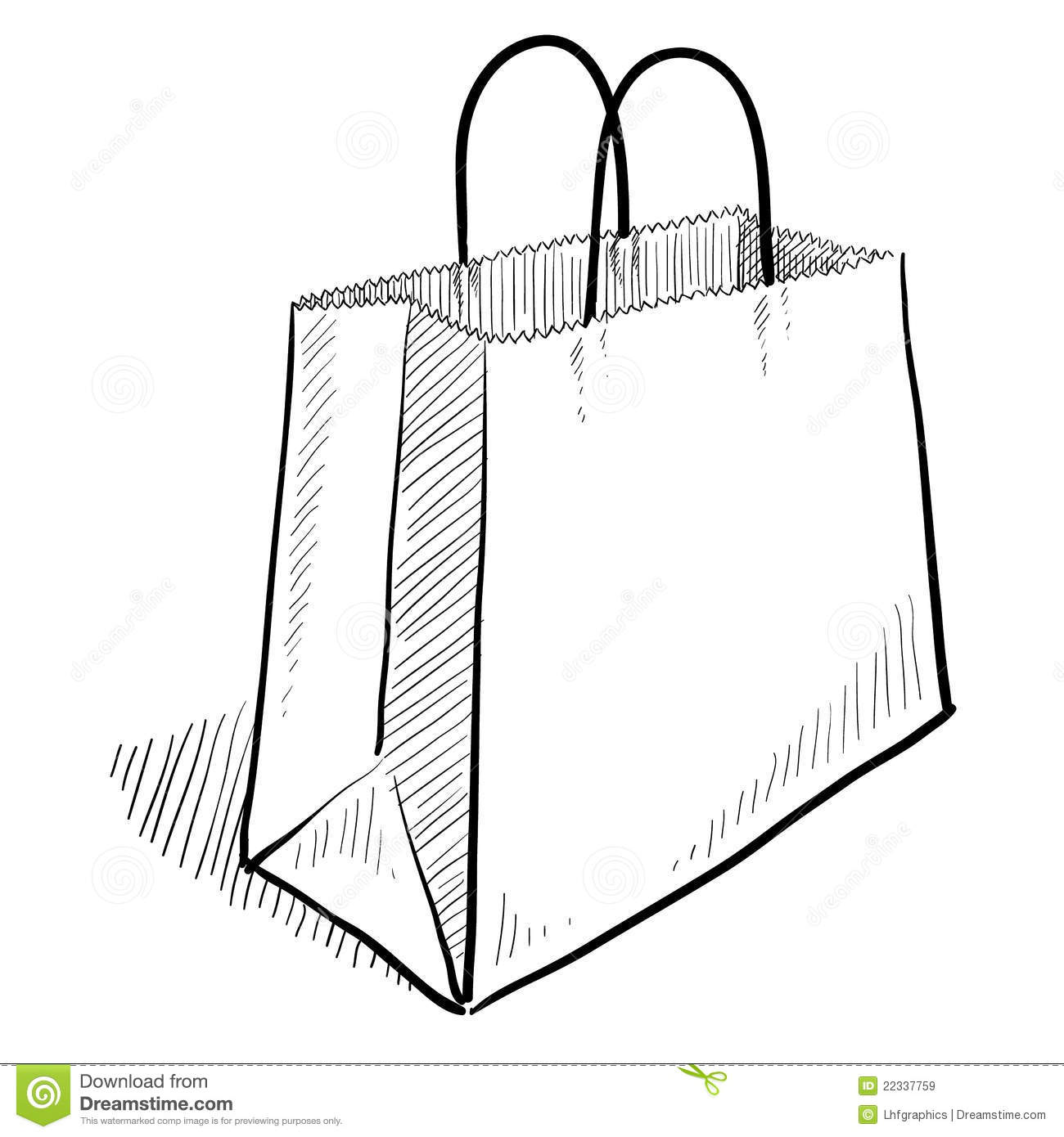 Shopping Bag Sketch Royalty Free Stock Images - Image: 22337759