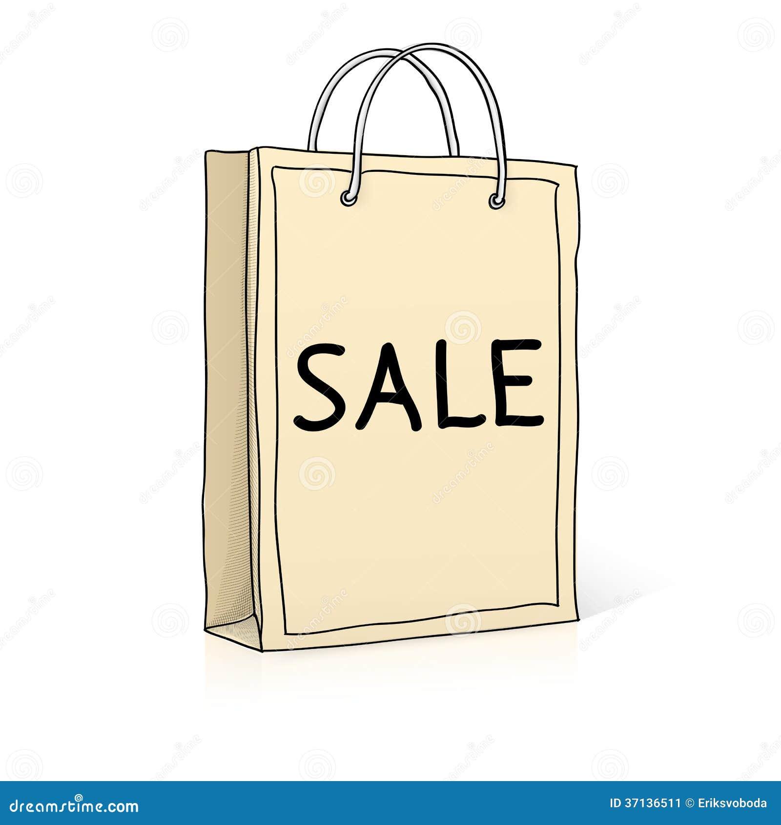 Paper bag sketch - Shopping