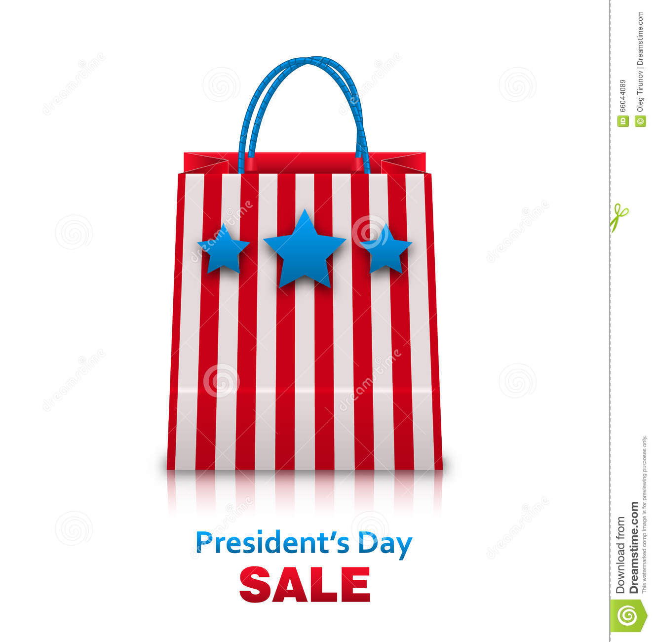 shopping bag in usa patriotic colors for presidents day sale