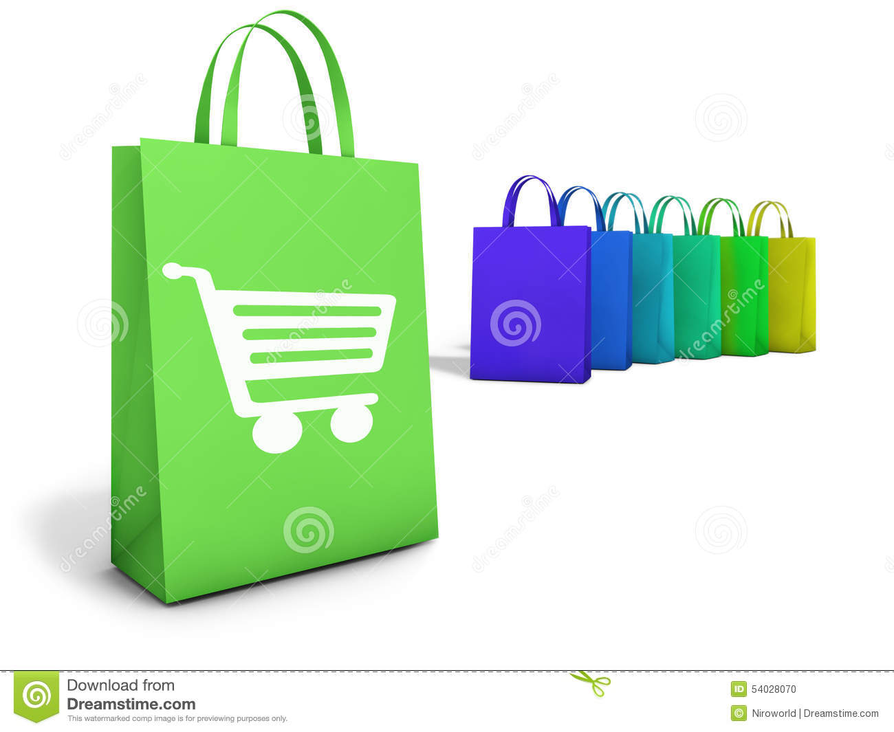Web Online Shopping Bags E-Commerce Stock Illustration - Image ...