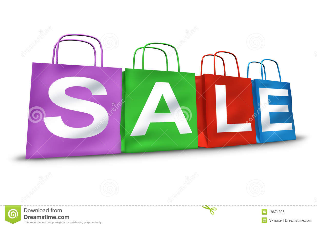Shopping Bags Sale Symbol Royalty Free Stock Image - Image: 18671896