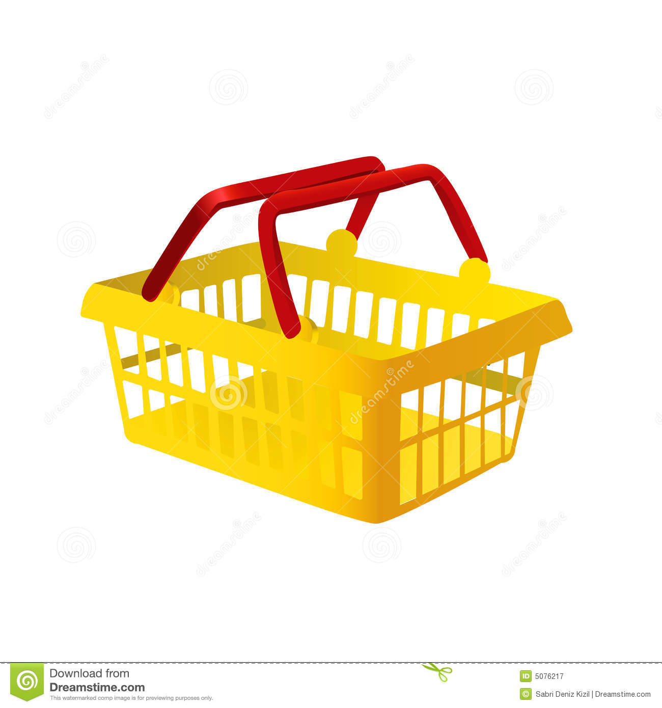Vector Clipart Shopping Basket : Ping basket vector stock illustration of