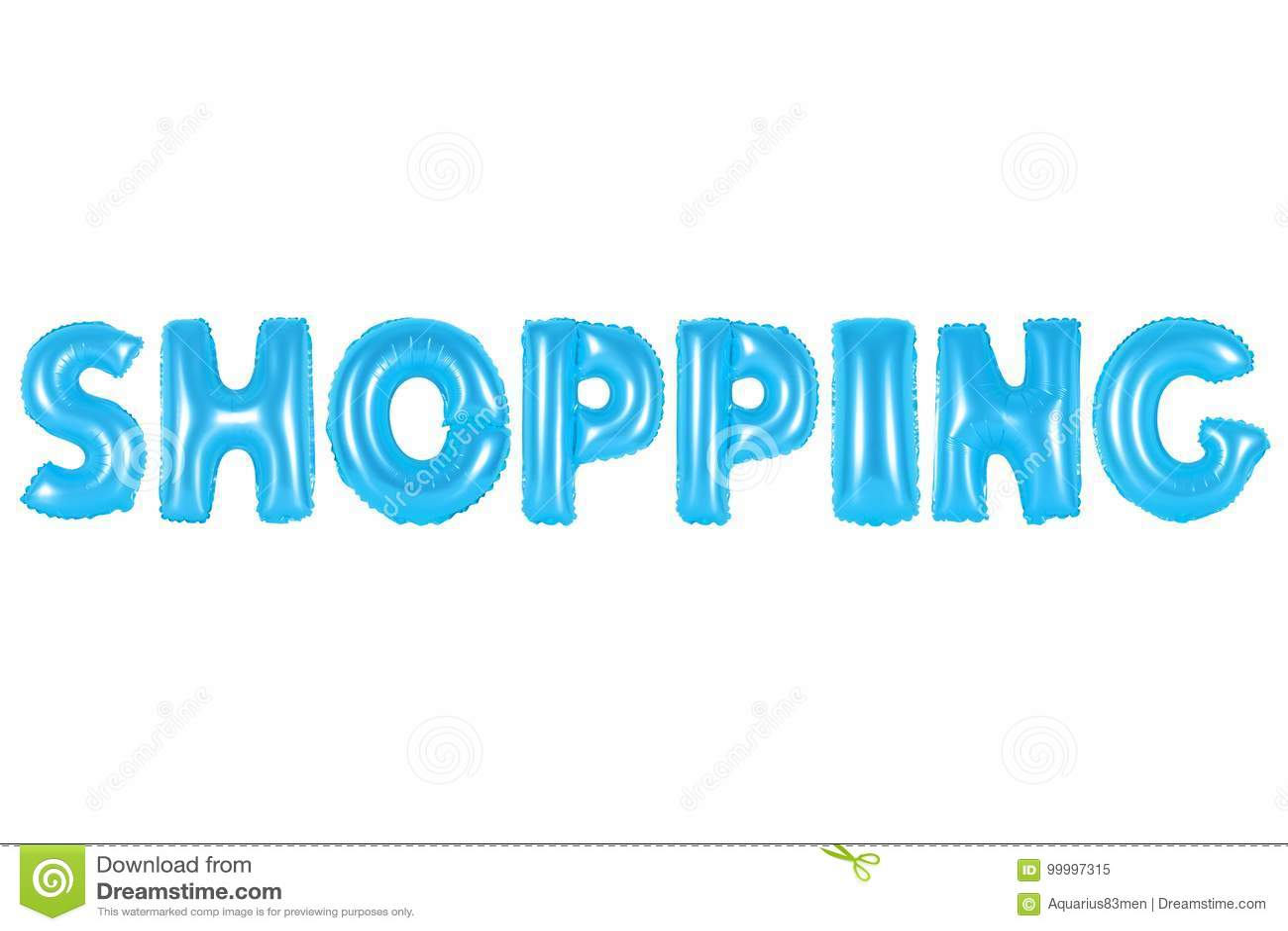 Shopping, blue color stock image. Image of children, hobby - 99997315