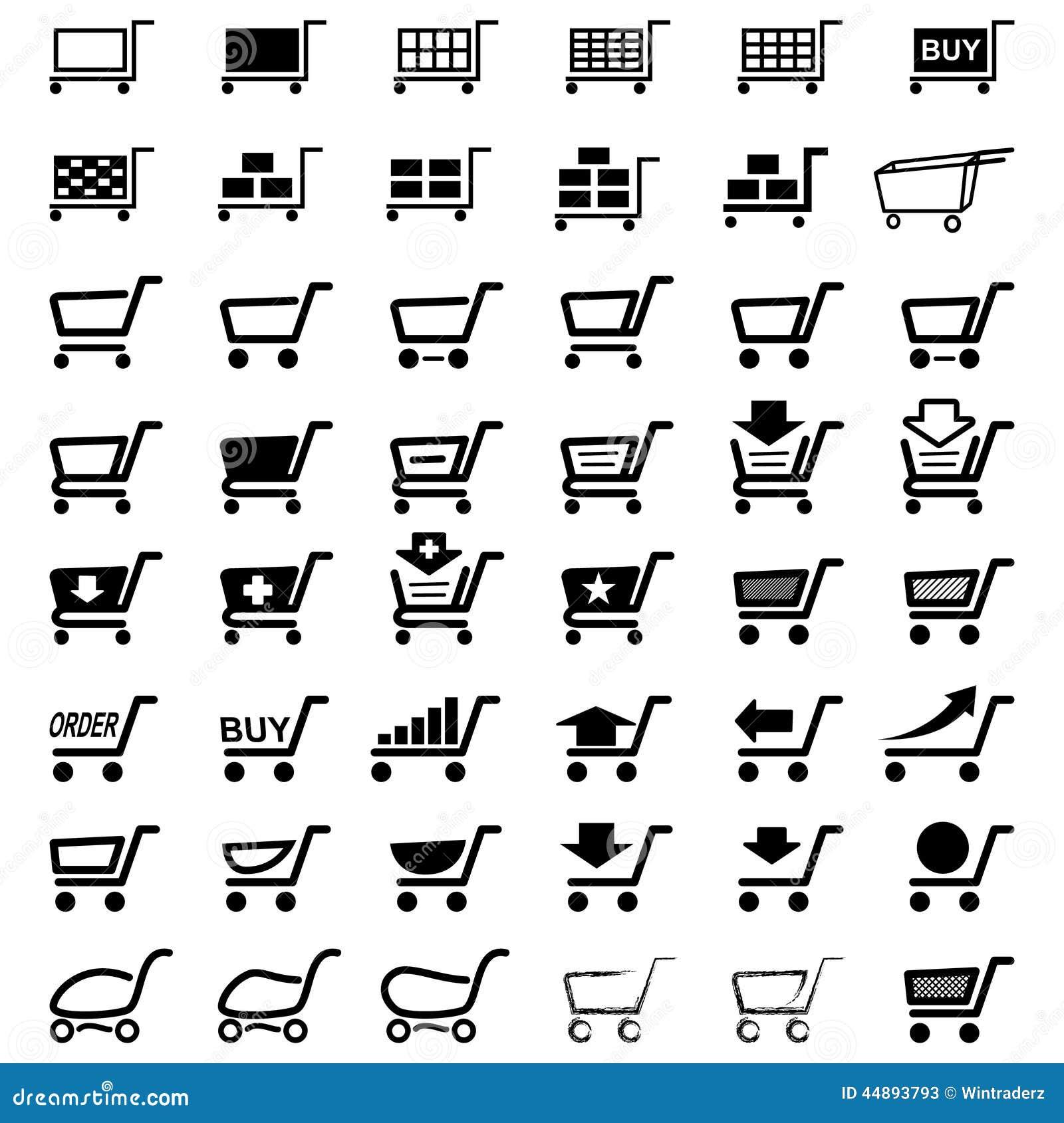 shopping buy market cart stock vector
