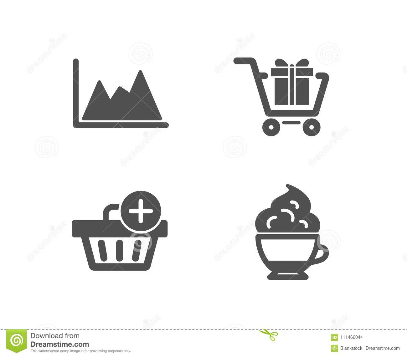 Phenomenal Shopping Cart Add Purchase And Diagram Icons Cappuccino Cream Sign Wiring 101 Swasaxxcnl