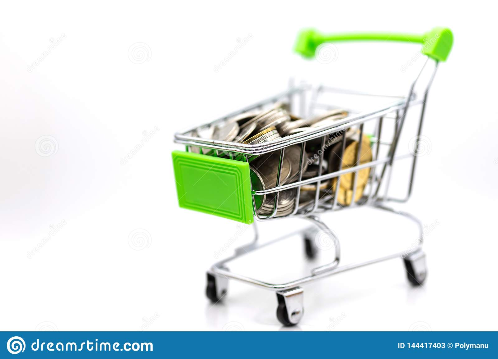 Shopping Cart With Box Inside For Retail Business  Image Use