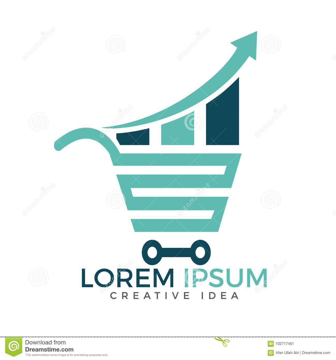 Shop Report Or Stats And Shopping Logo Design Element. Stock Vector ...