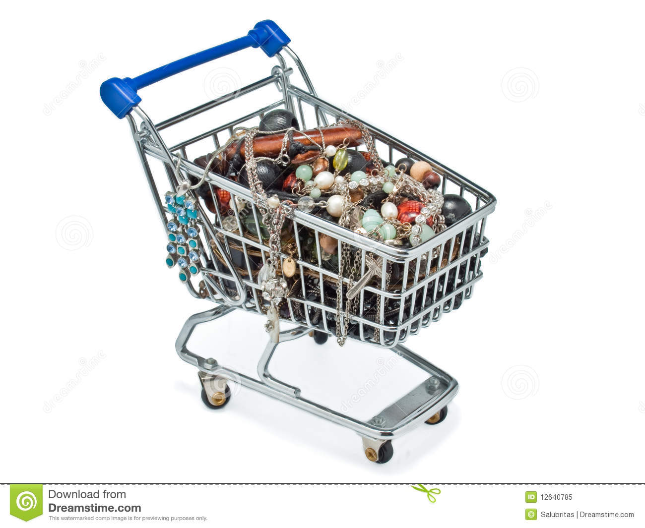 ... similar stock images of ` Shopping cart full of costume jewellery
