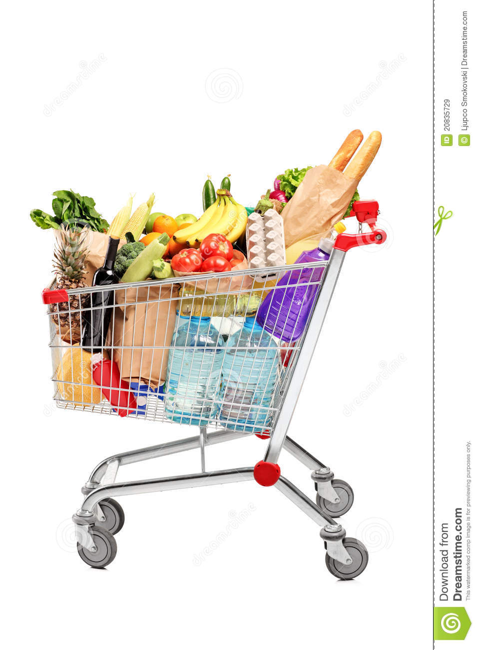 Shopping Cart Full With Groceries Royalty Free Stock Images - Image ...