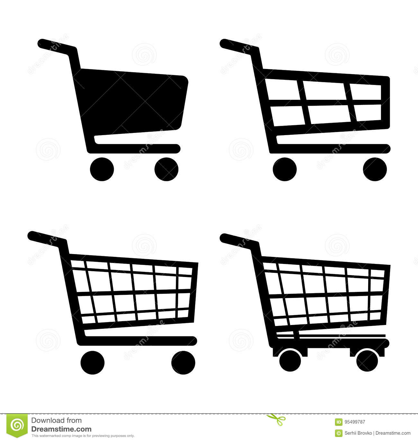 Shopping Cart Icon set icon isolated on white background. Vector illustration.