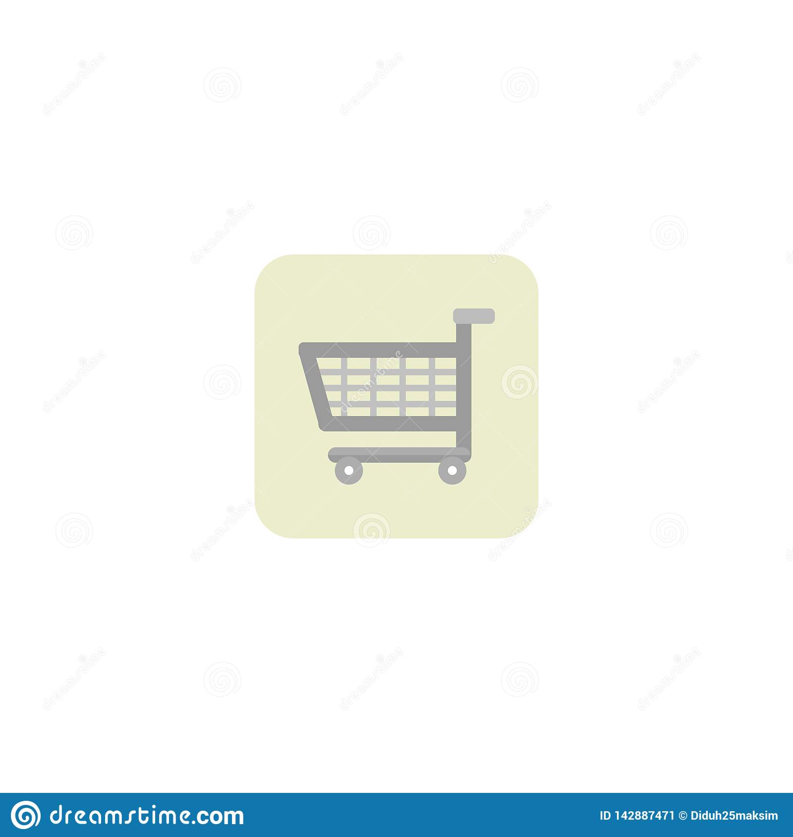 Shopping cart icon. Trolley. White background. Vector illustration. EPS 10