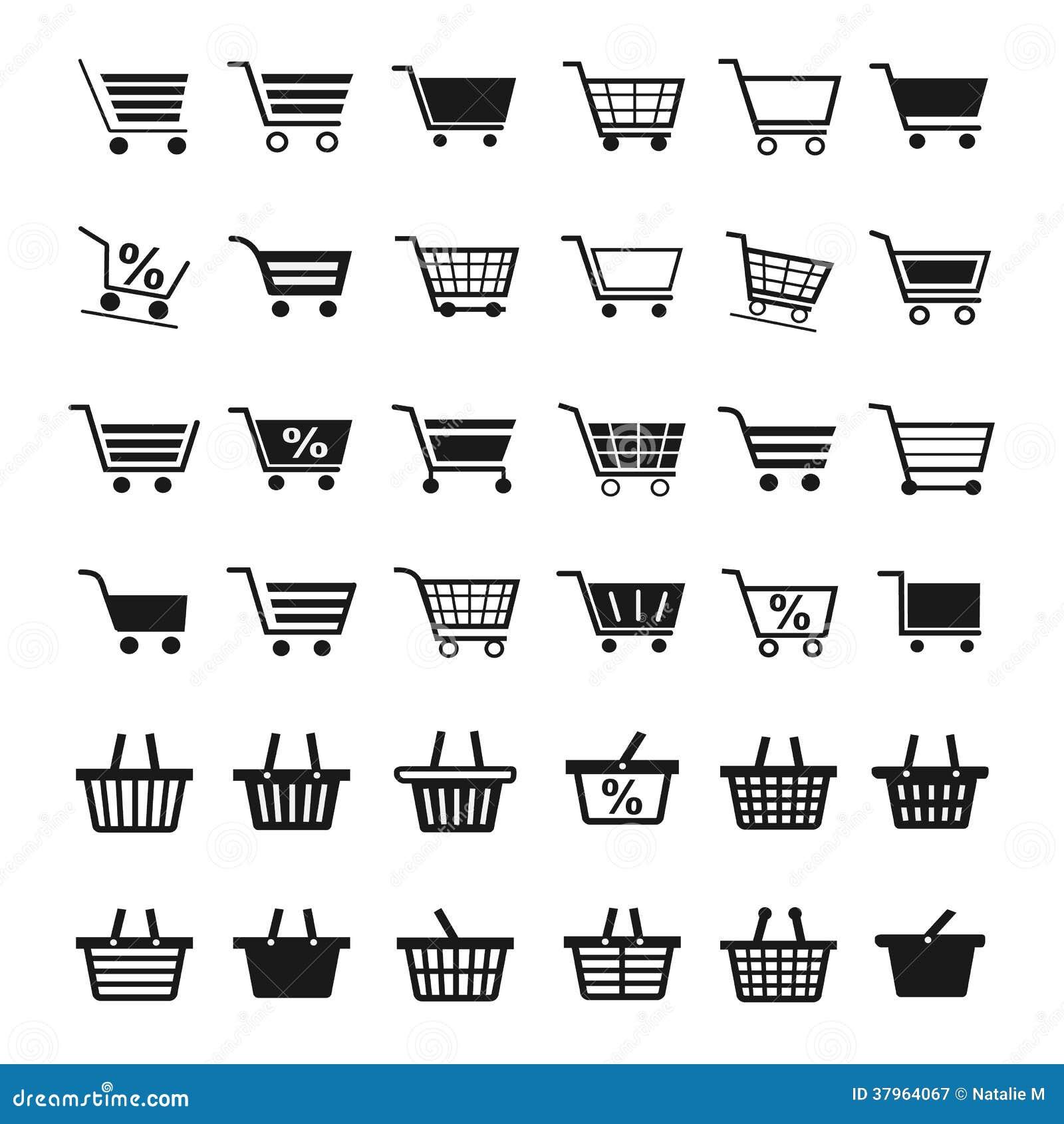 Shopping cart icons royalty free stock photography image 37964067