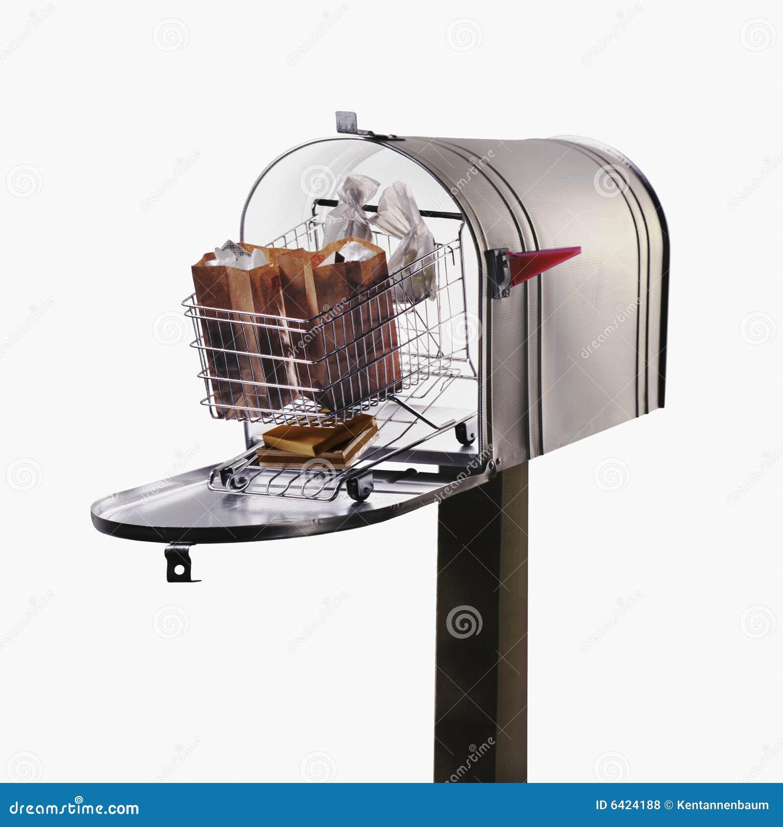 Shopping Cart In Large Mailbox Royalty Free Stock Photos - Image ...