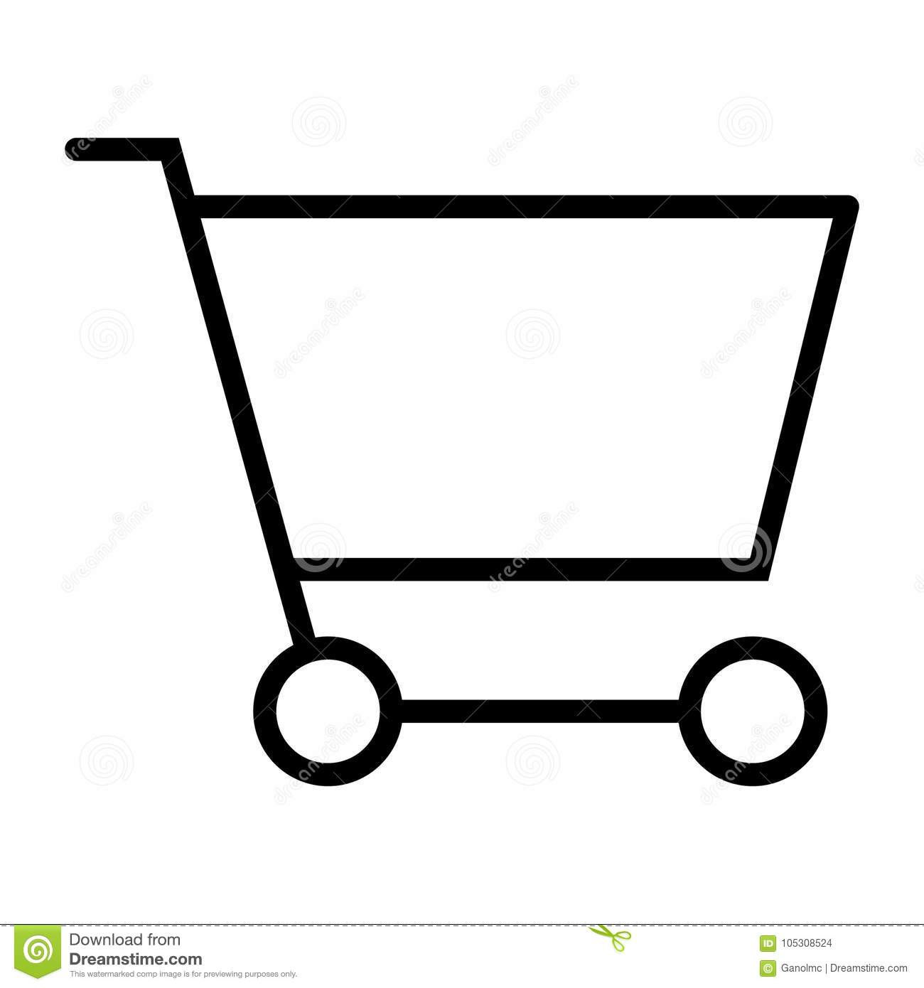 Shopping Cart Pixel Perfect Vector Thin Line Icon 48x48