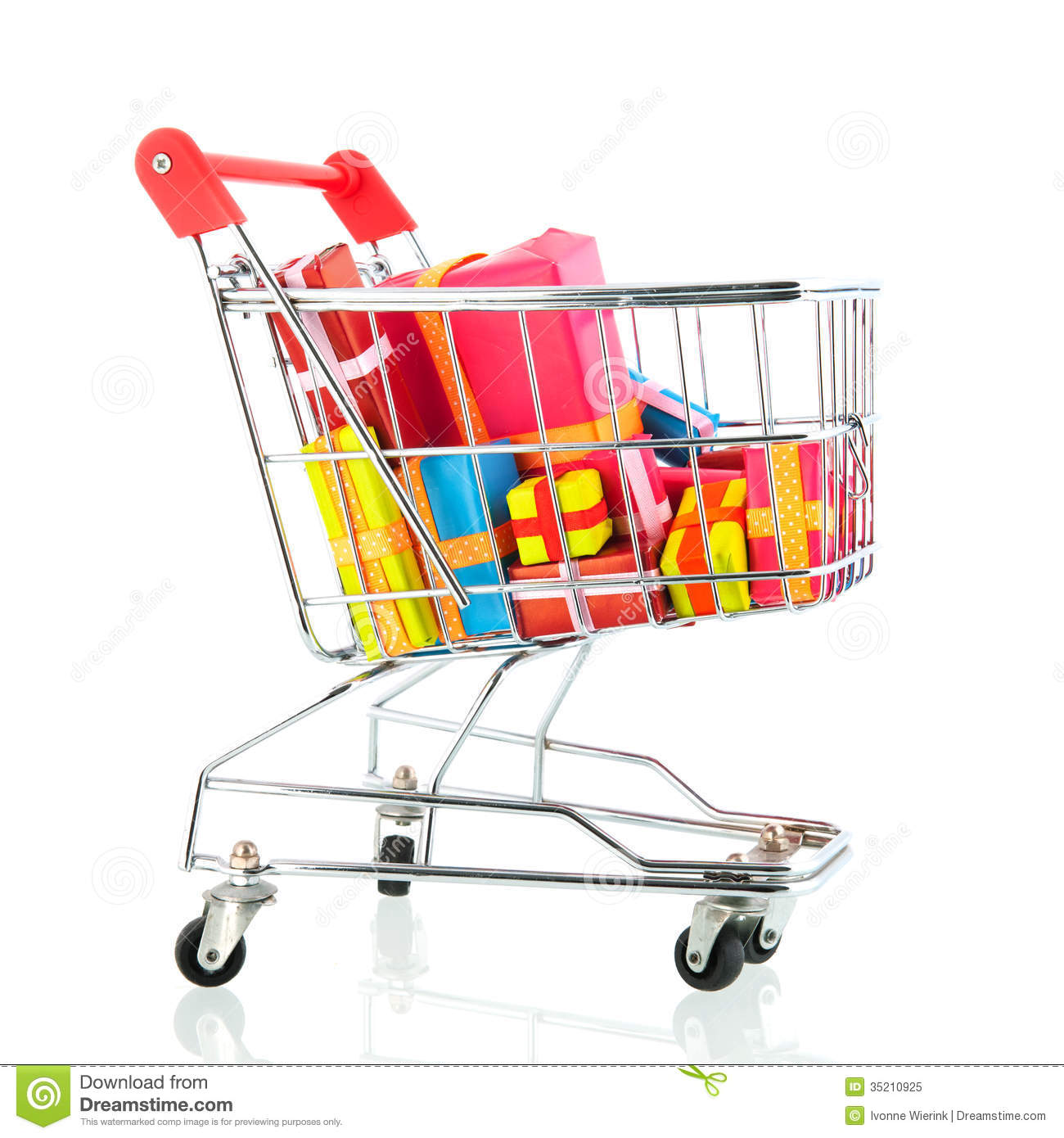 Shopping cart with presents