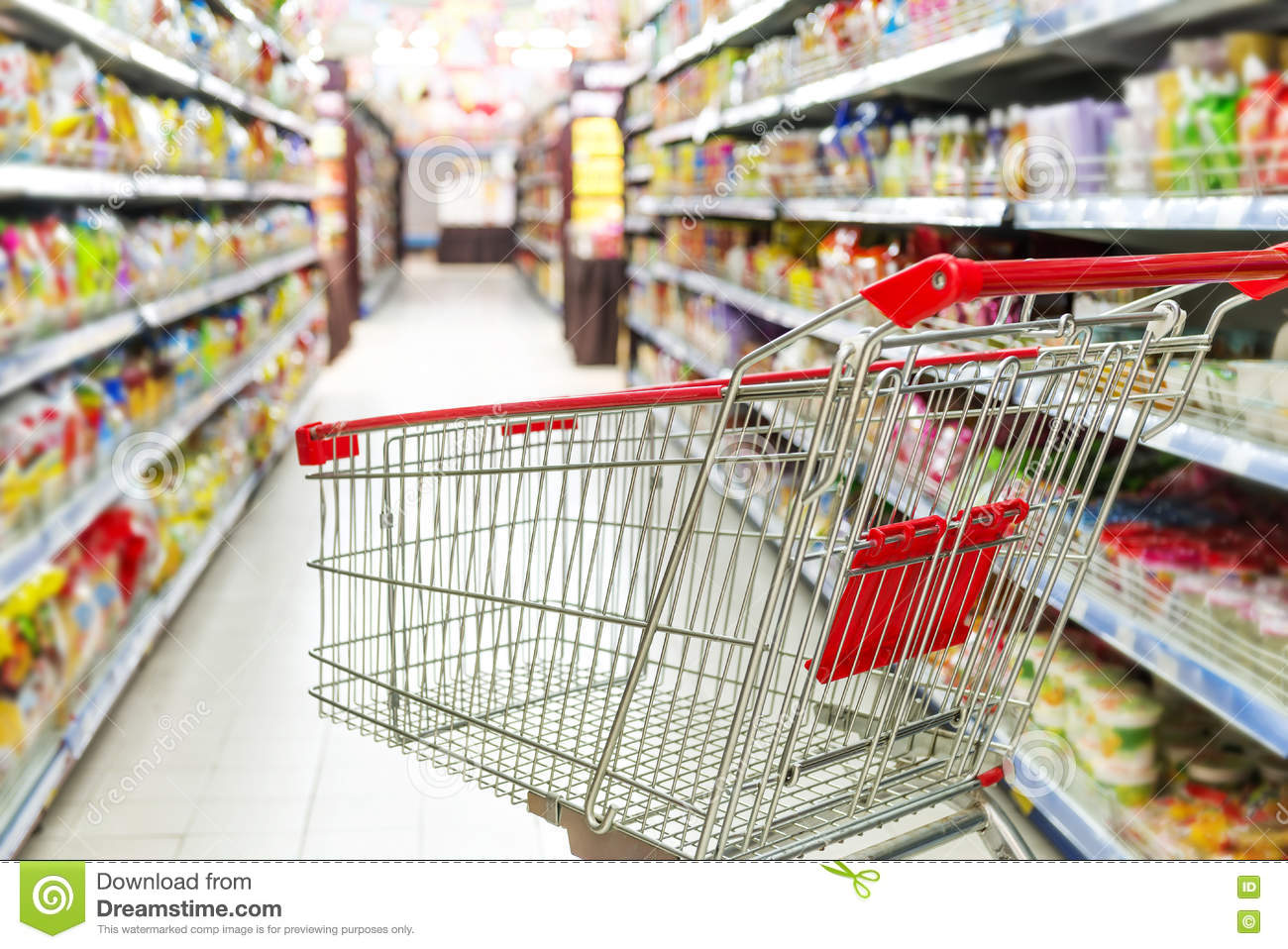 A shopping cart ready for purchase