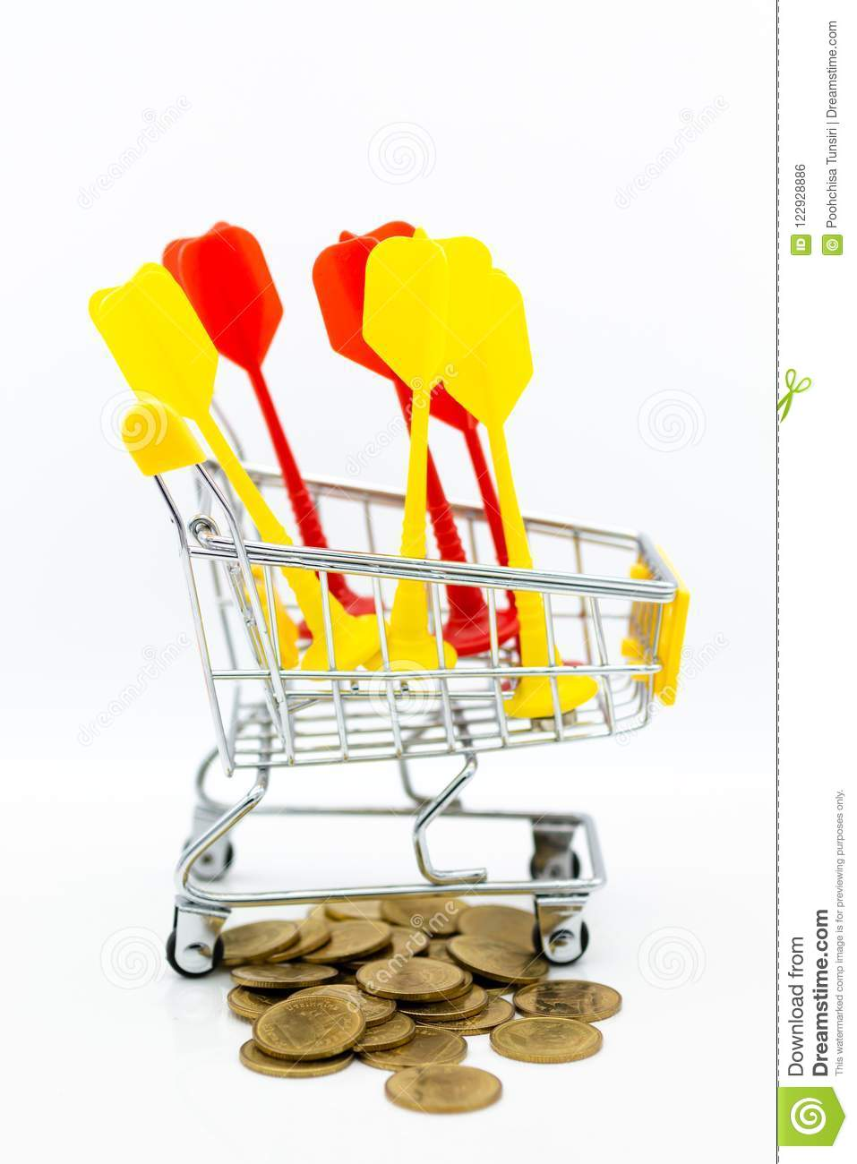 Shopping Cart For Retail Business  Image Use For Online And