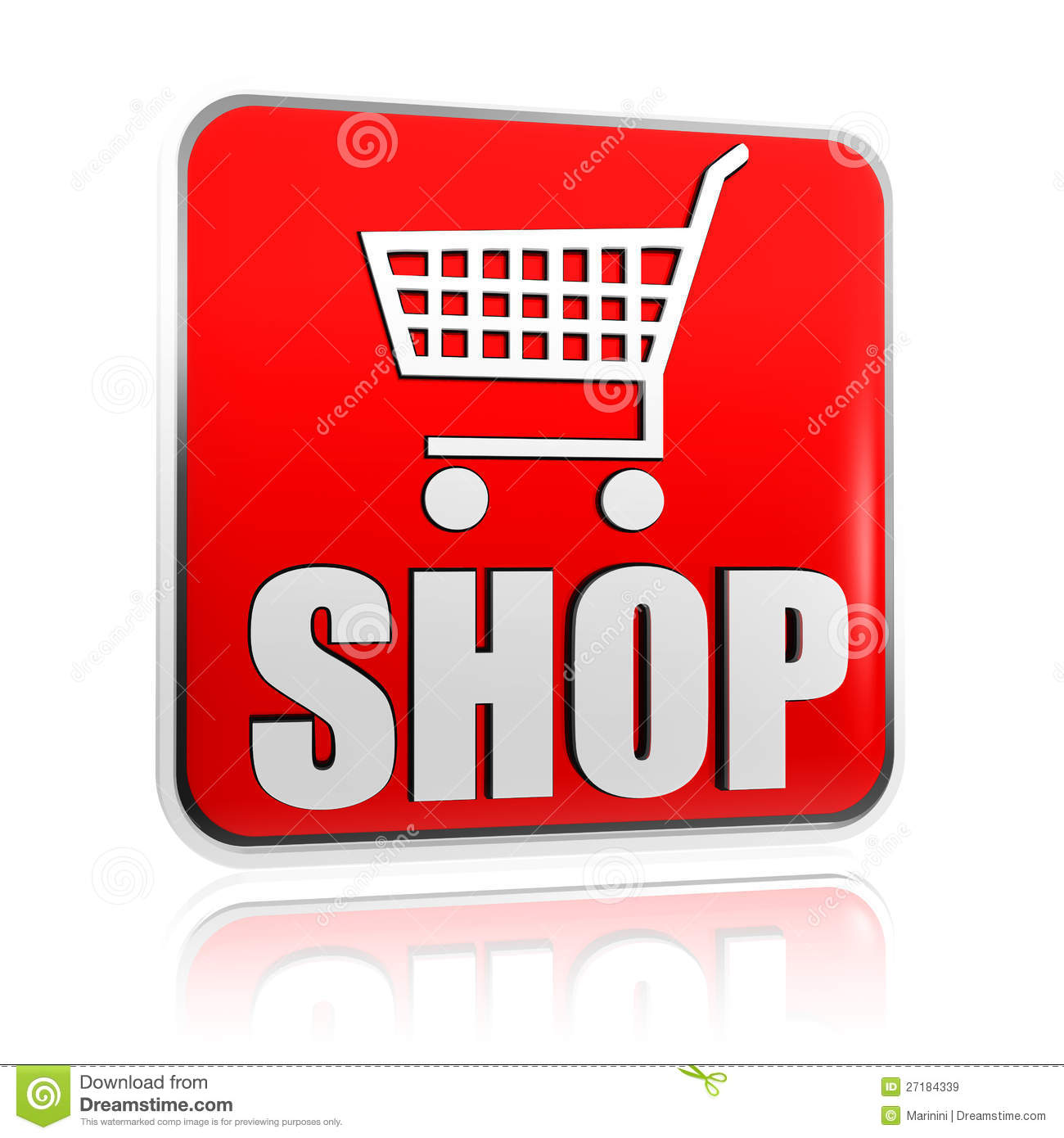 Shopping Cart Sign With Word Shop Banner Royalty Free Stock Images ...