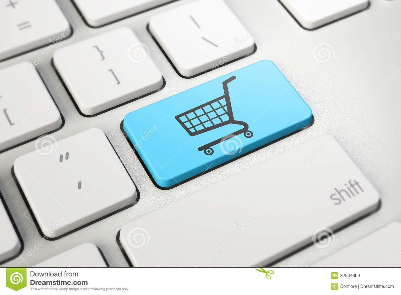 Online shopping blue