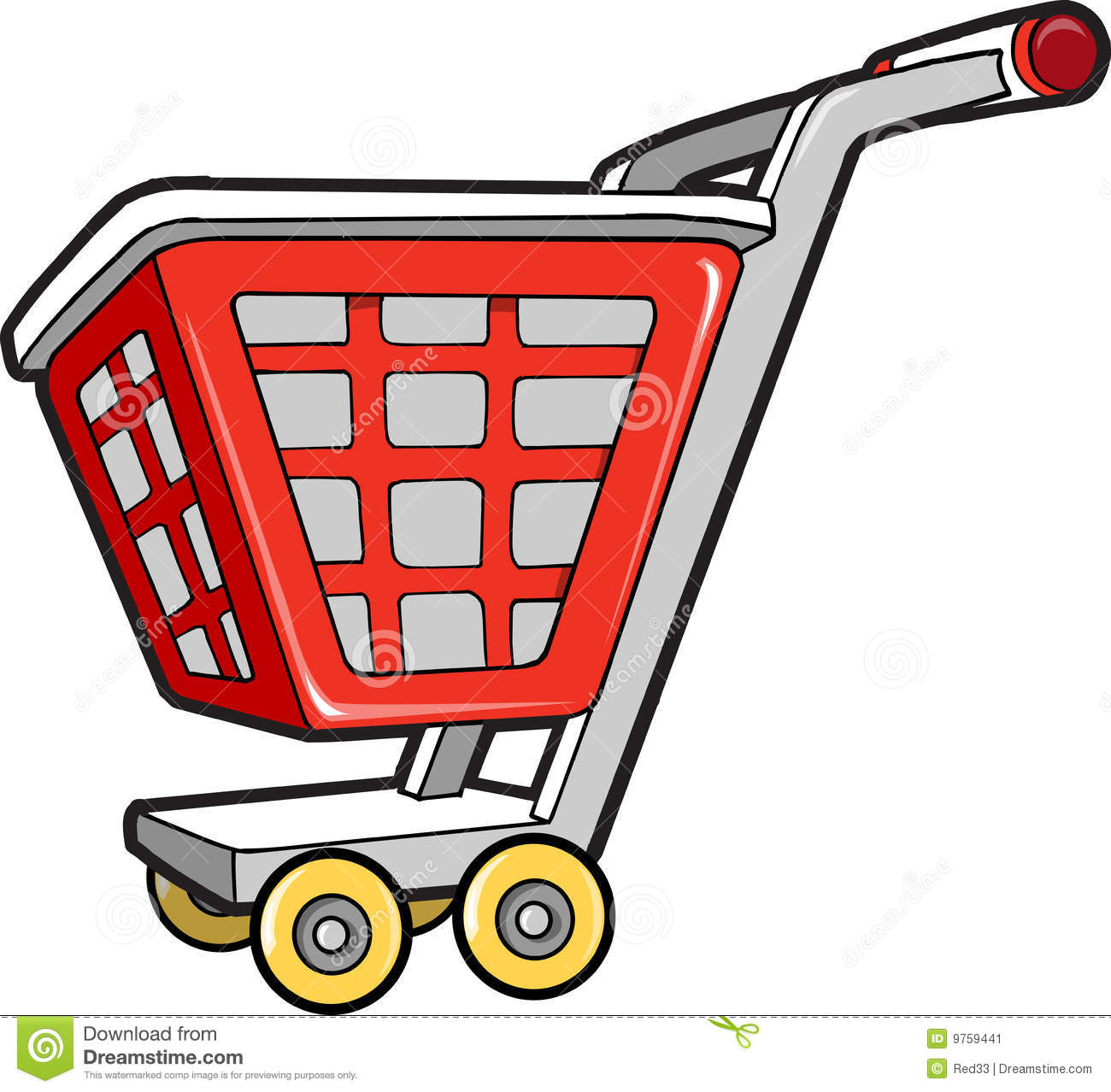 Vector Clipart Shopping Basket : Ping cart vector illustration stock image