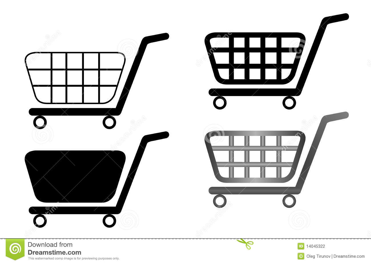 empty shopping carts vector illustration cartoon vector