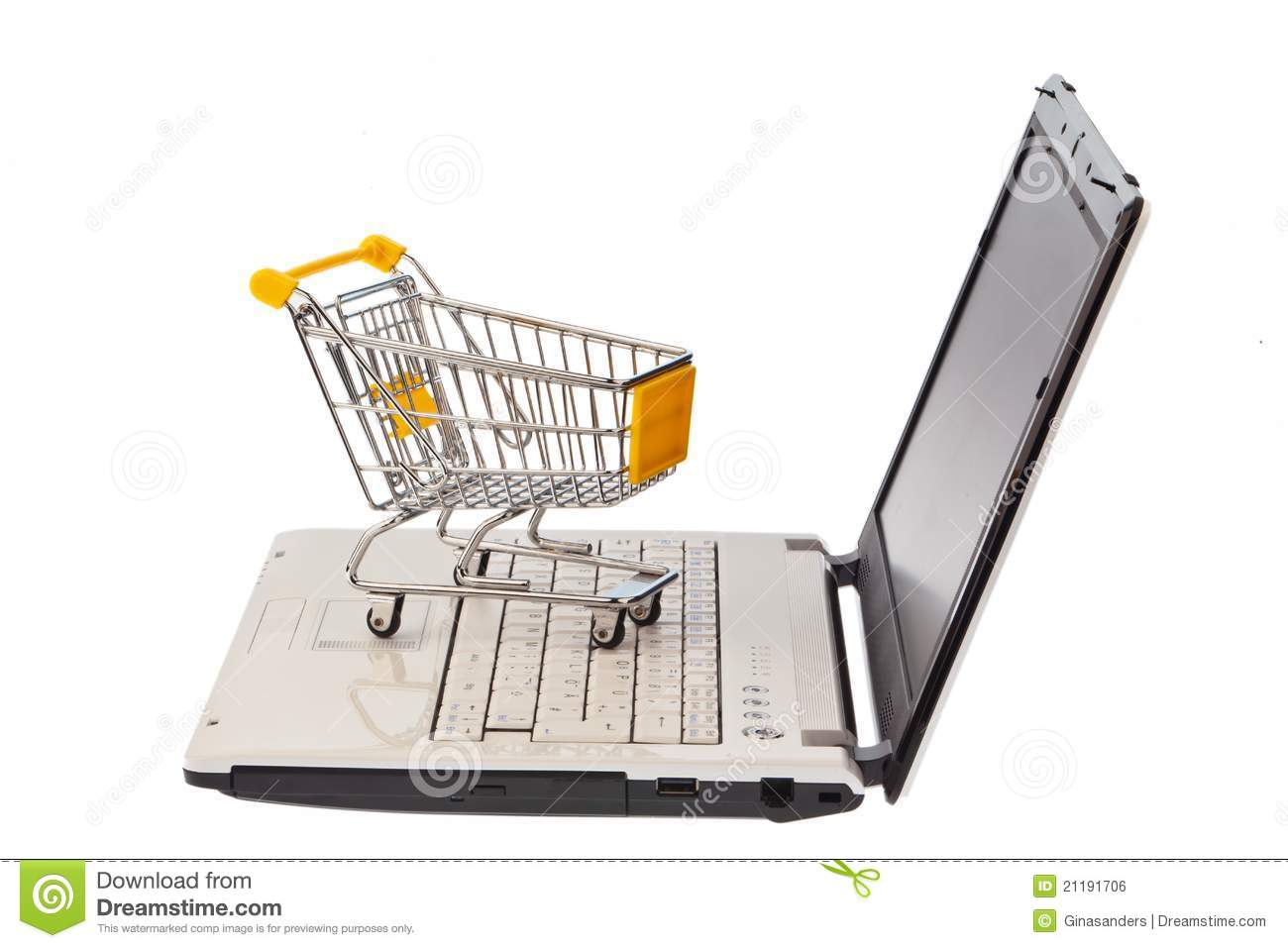 Shopping carts and computer keyboard