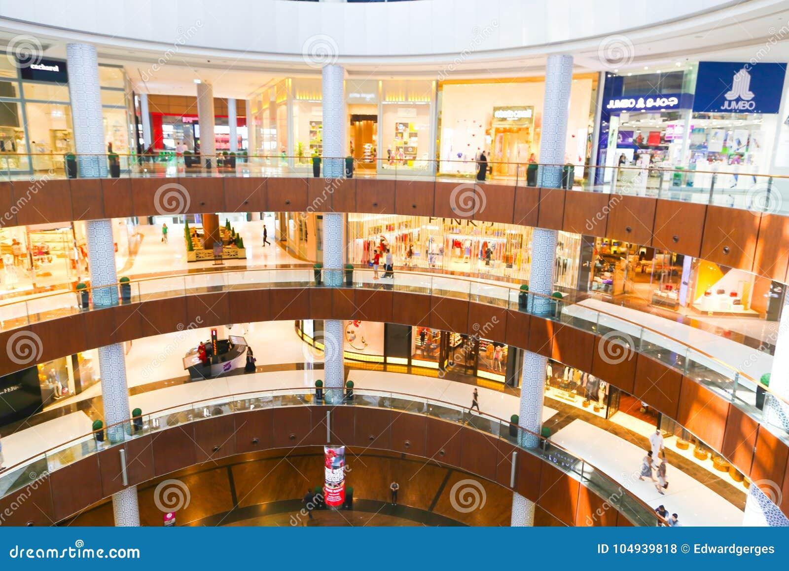 Shopping at Dubai Mall editorial stock photo  Image of
