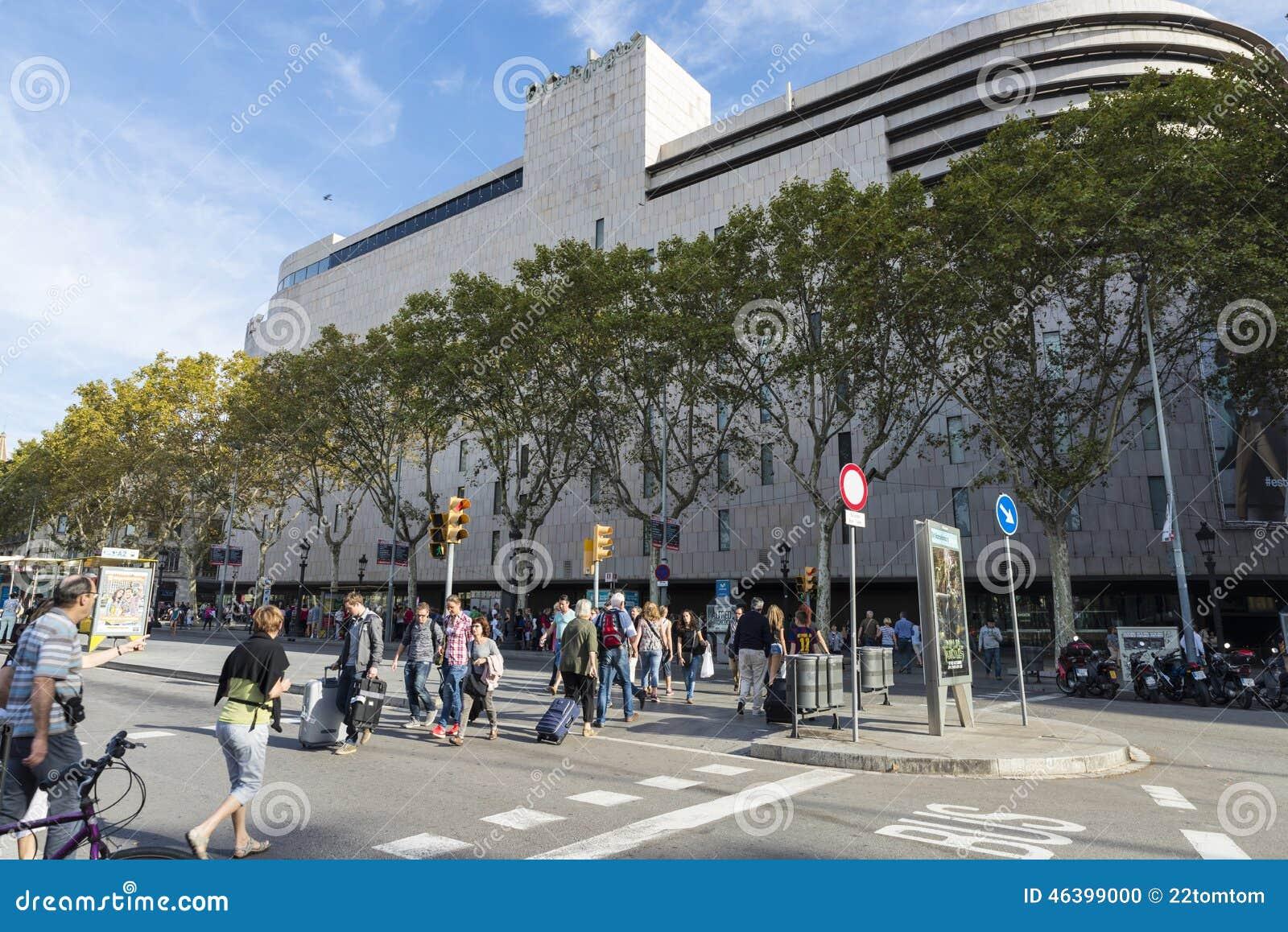 Shopping Center El Corte Ingles Barcelona Editorial Image