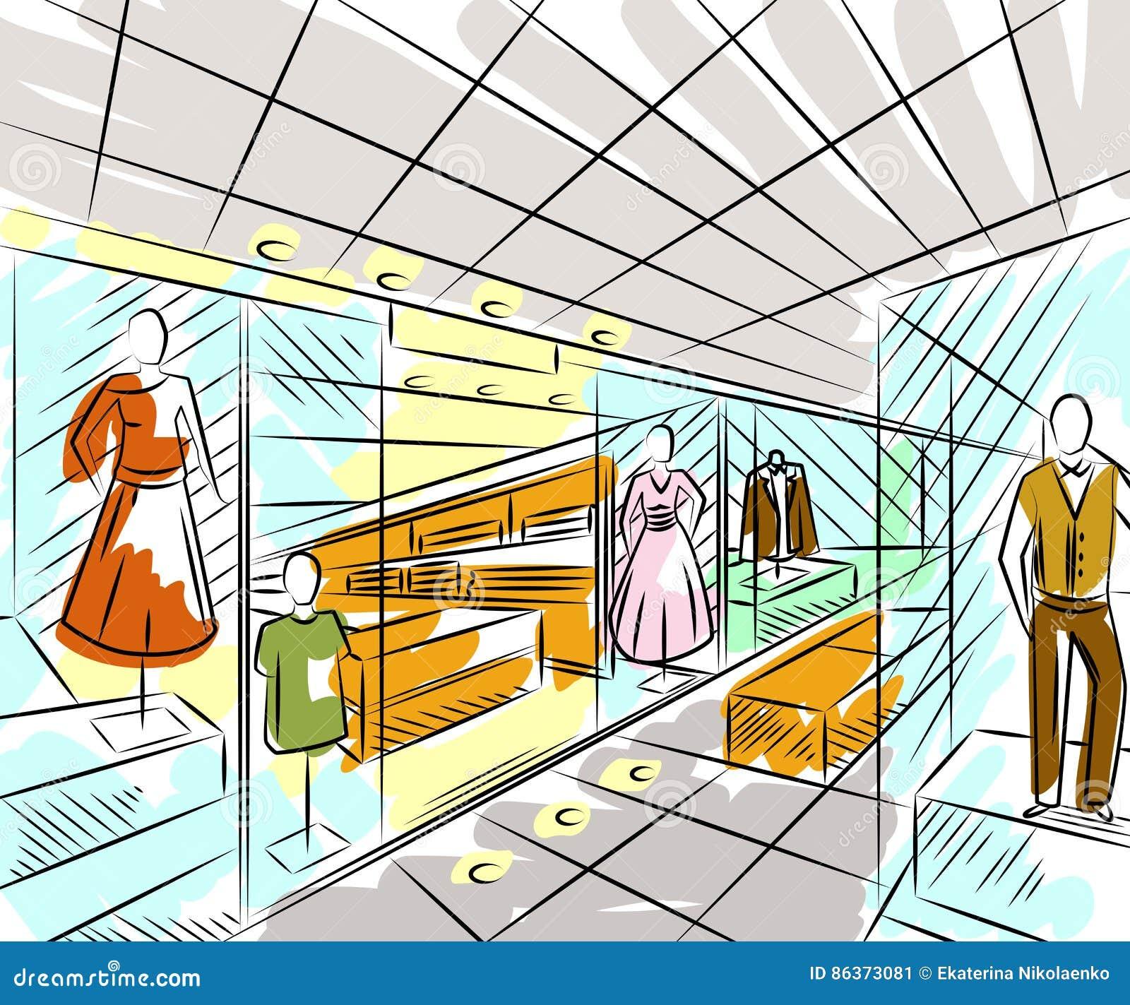 interior design in sketch style