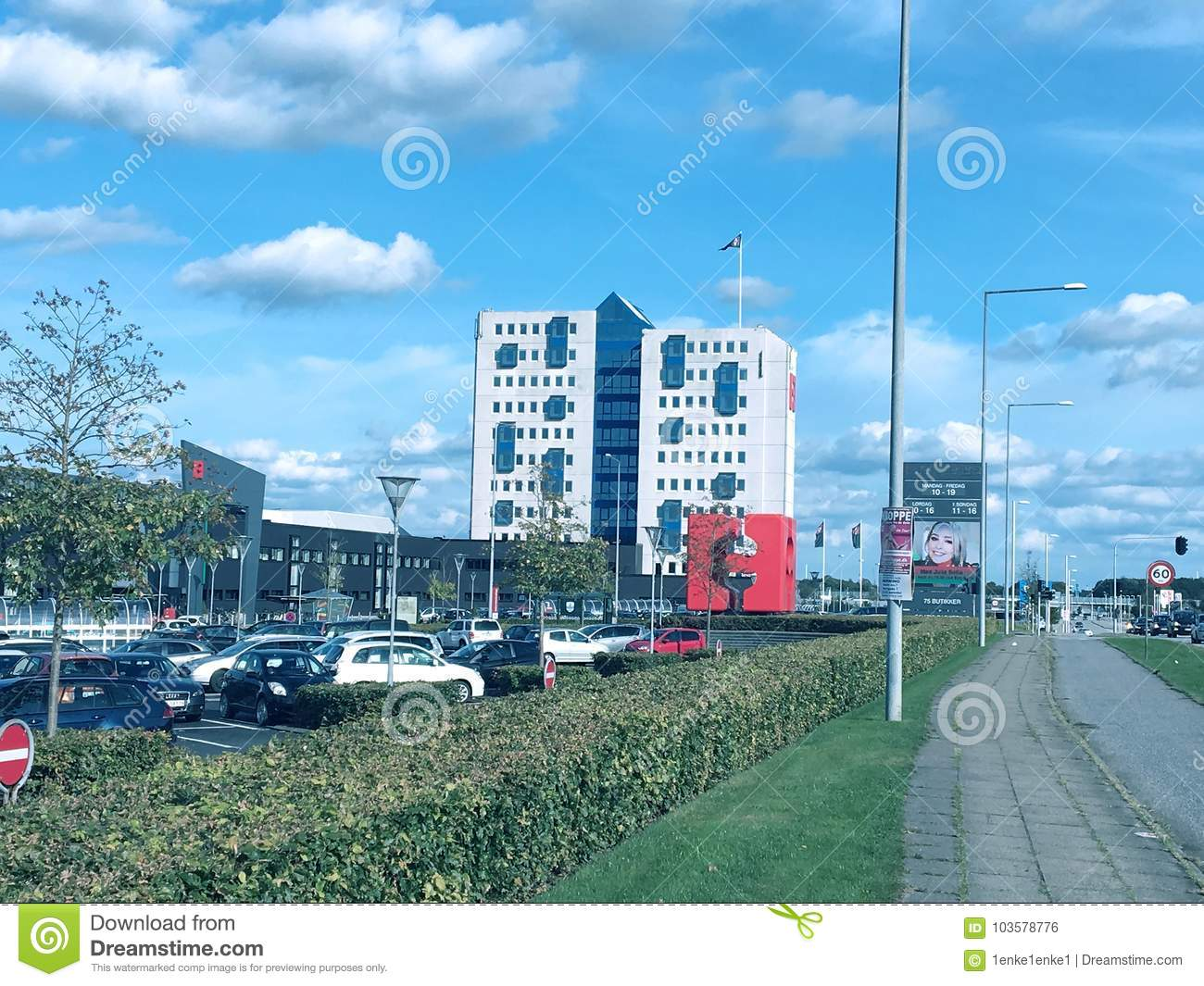 ce76163f7a7 Shopping Center In The Herning,Denmark Editorial Photo - Image of ...