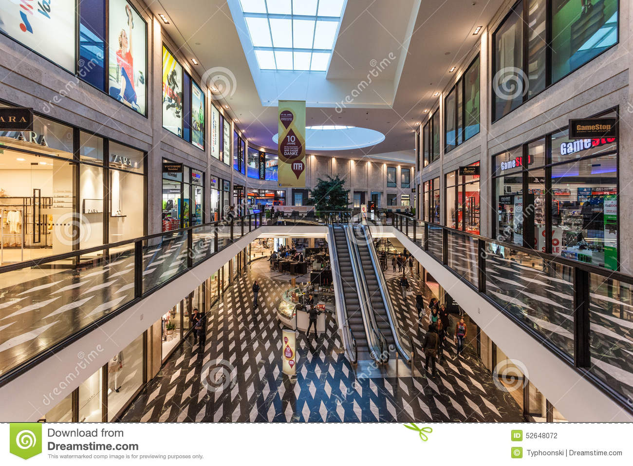 Shopping Center In Munster Germany Editorial Photography