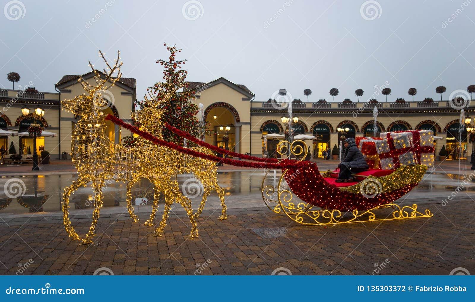 timeless design 7a924 35941 Shopping Center `Serravalle Outlet` On Christmas Days, Near ...
