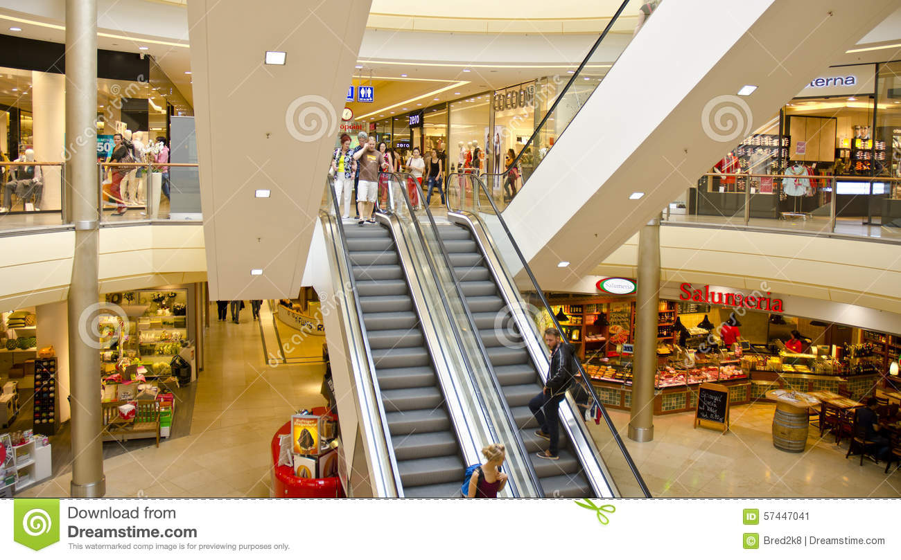 Shopping Centre Interior Dresden Germany Editorial Photo - Image Of Centre Dresden 57447041